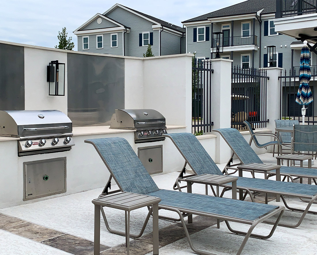 Grilling Area at Elan at Terra Bella Apartments in Covington, Louisiana