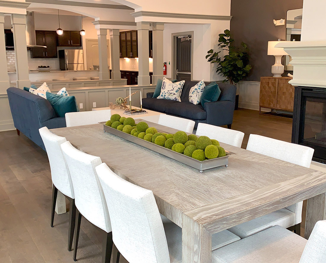 Large Dining Table at Elan at Terra Bella Apartments in Covington, Louisiana