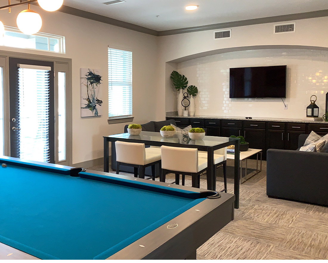Pool Table at Elan at Terra Bella Apartments in Covington, Louisiana