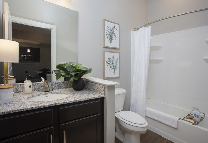 Shower and Bathtub at Elan at Terra Bella Apartments in Covington, Louisiana