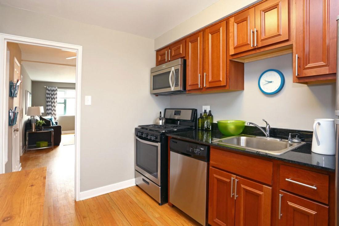 Kitchen Storage at Elmhurst Terrace Apartments in Elmhurst, Illinois