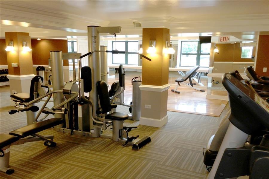 Updated Fitness Area at Elmhurst Terrace Apartments in Elmhurst, Illinois