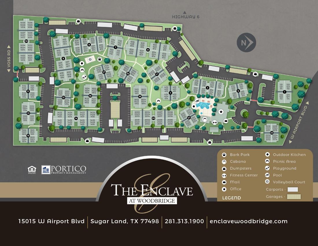 Enclave At Woodbridge Site Plan