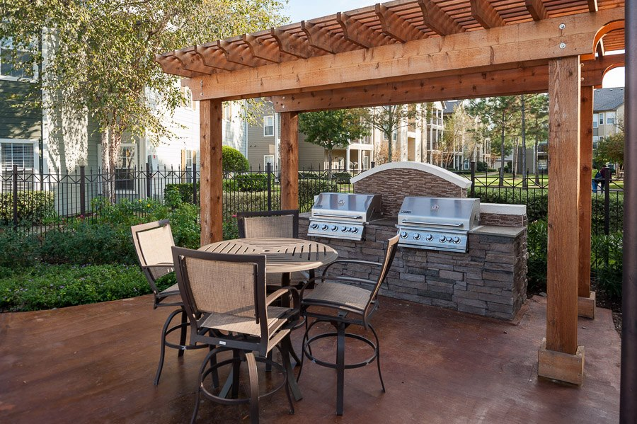 Grilling Station at The Enclave at Woodbridge Apartments in Sugar Land, TX