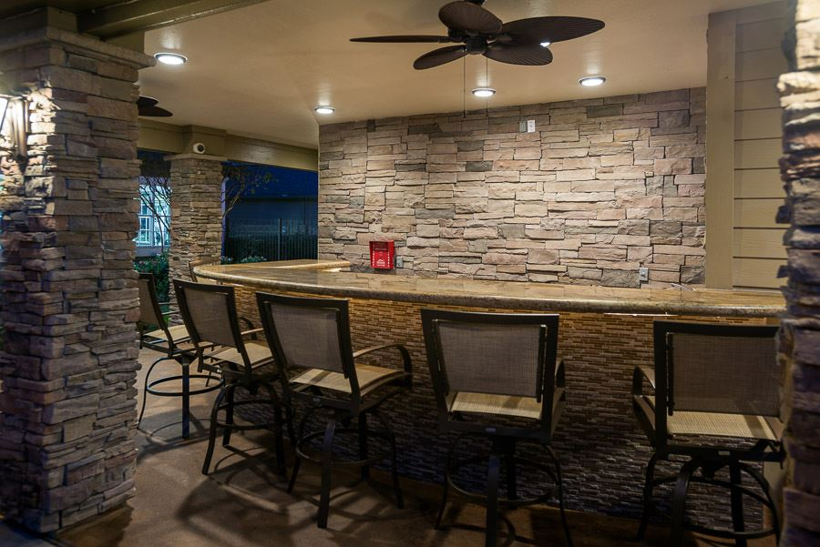 Outdoor Seating at The Enclave at Woodbridge Apartments in Sugar Land, TX