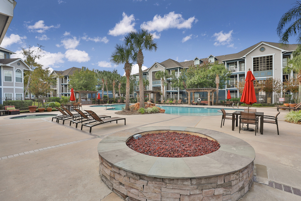 Outdoor Firepit at The Enclave at Woodbridge Apartments in Sugar Land, TX