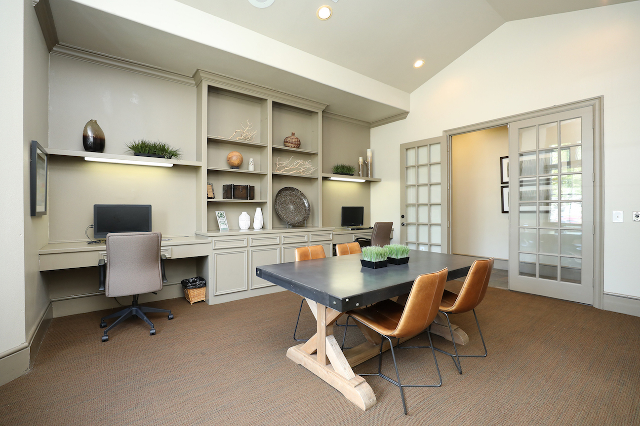 Business Room at The Enclave at Woodbridge Apartments in Sugar Land, TX
