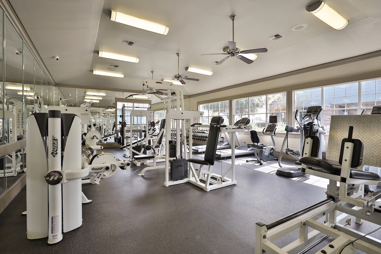 On-Site Fitness Center at The Enclave at Woodbridge Apartments in Sugar Land, TX