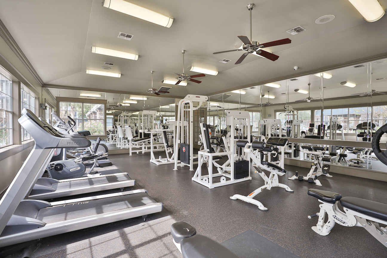 Cardio Machines at The Enclave at Woodbridge Apartments in Sugar Land, TX
