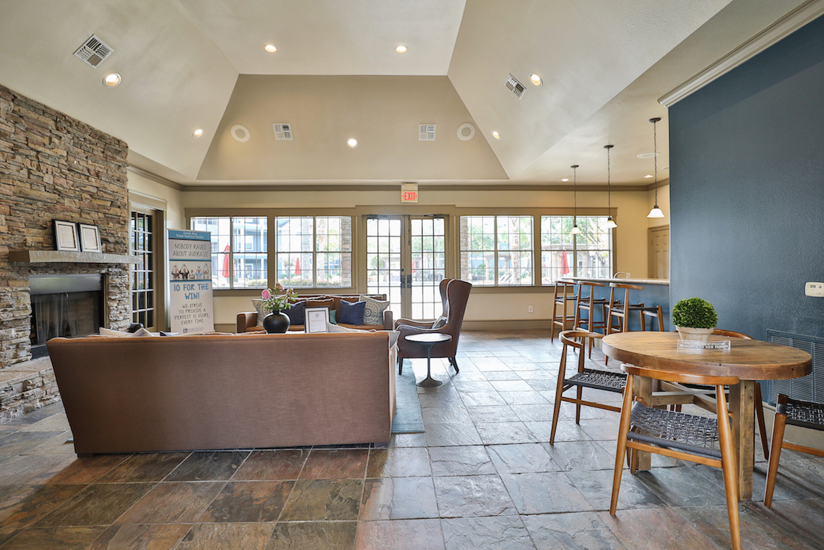 Upscale Clubhouse at The Enclave at Woodbridge Apartments in Sugar Land, TX