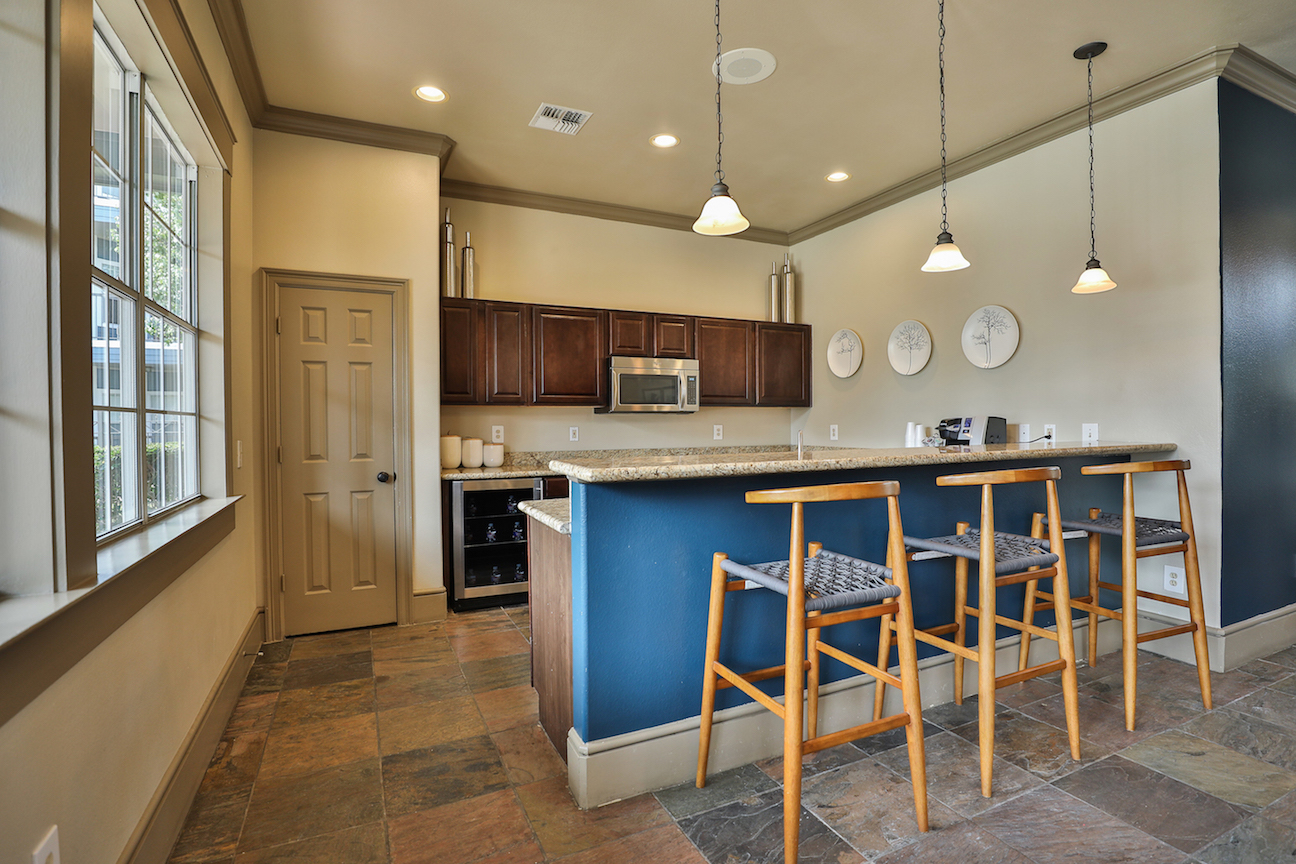 Demonstration Kitchen at The Enclave at Woodbridge Apartments in Sugar Land, TX