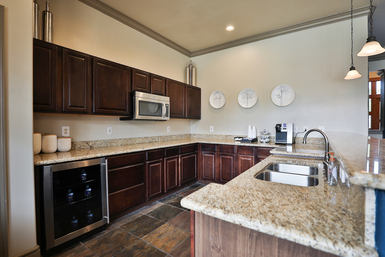 Large Kitchen at The Enclave at Woodbridge Apartments in Sugar Land, TX