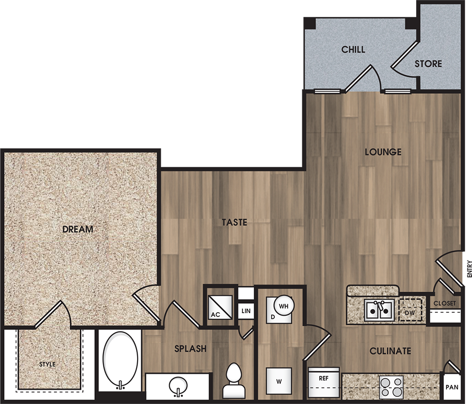 Encore on Alsbury - Floorplan - A2: The Armstrong