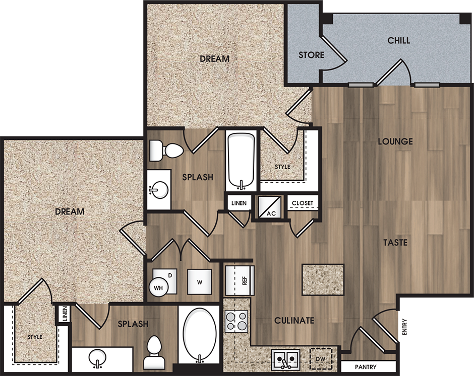 Encore on Alsbury - Floorplan - B1: The Renfro