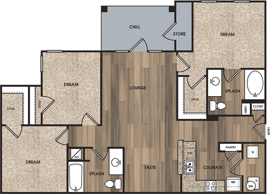 Floorplan - C1: The Mercer image