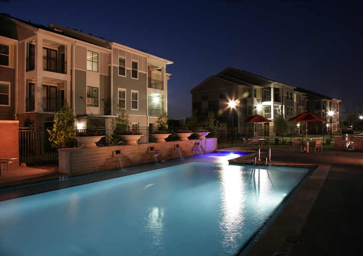 Community Lighting at Night at Encore on Alsbury Apartments in Burleson, TX