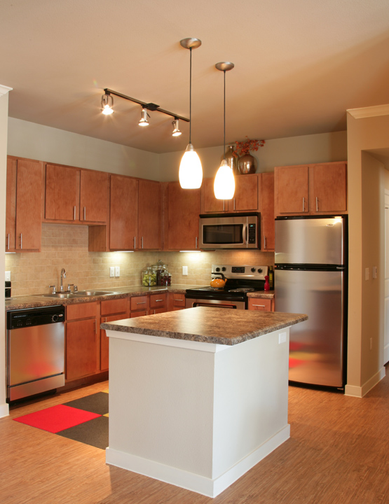 Island Kitchen at Encore on Alsbury Apartments in Burleson, TX