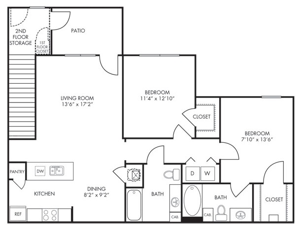Estate Villas at Krum - Floorplan - Mosaic