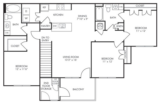 Estate Villas at Krum - Floorplan - Santa Fe