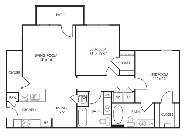 Estate Villas at Krum - Floorplan - Sierra