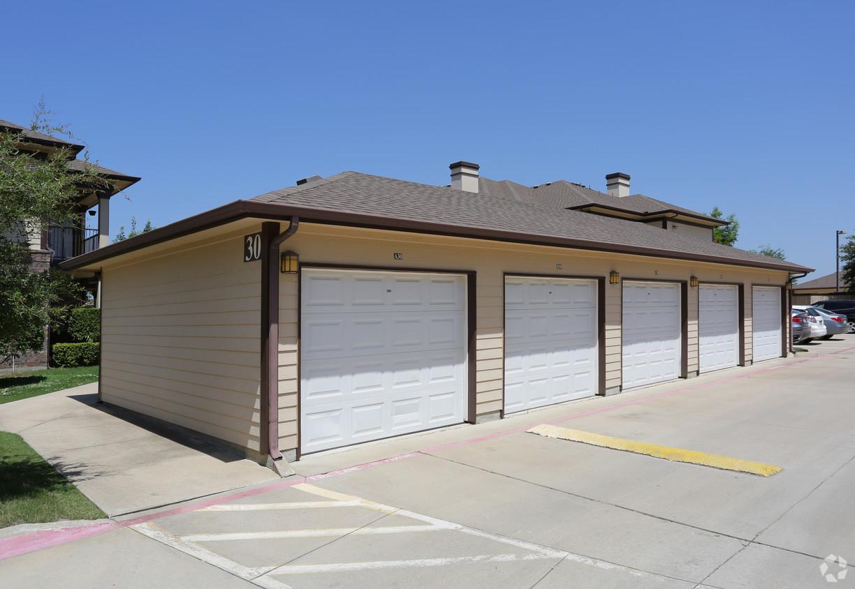 Garage at Estate Villas at Krum Apartments in Krum, TX
