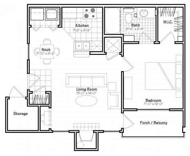 Oxford at Estonia - Floorplan - A1