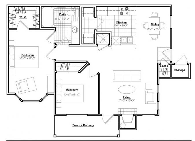 Oxford at Estonia - Floorplan - B1