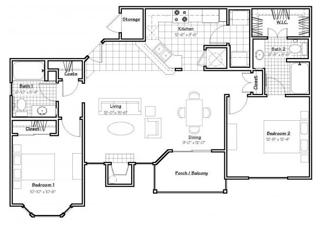 Oxford at Estonia - Floorplan - B2