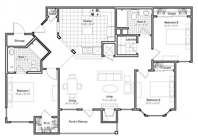 Oxford at Estonia - Floorplan - C1
