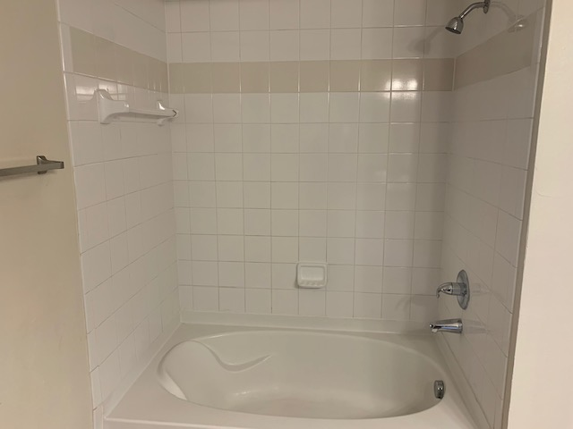 Tub and Shower at The Oxford at Estonia Apartments in San Antonio, TX