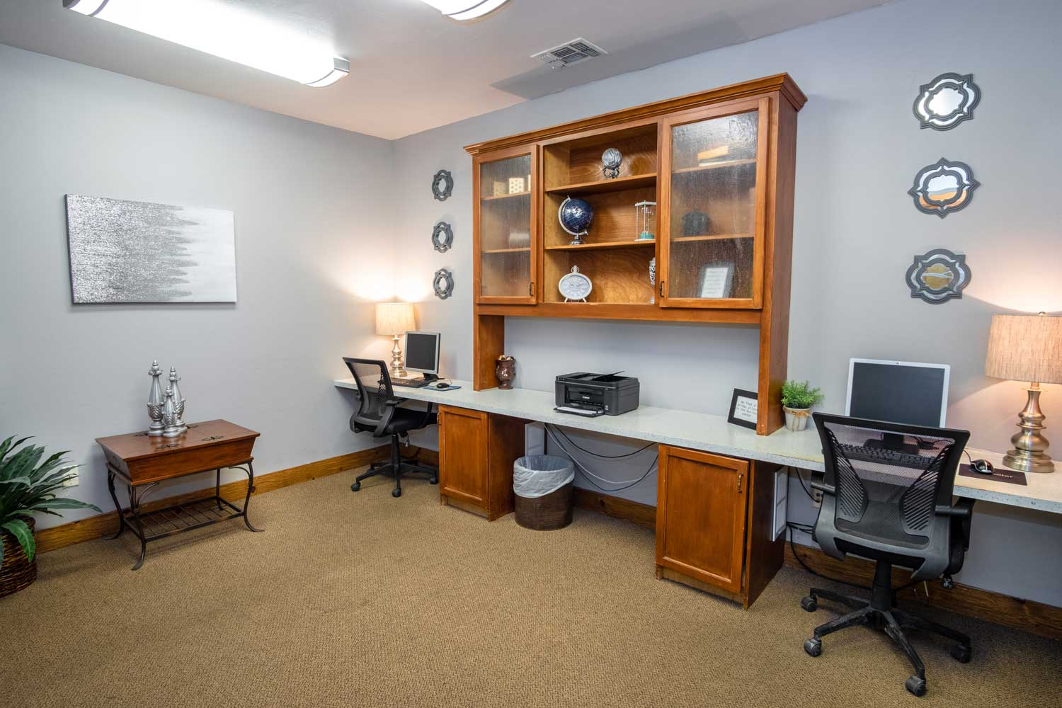 Office Area at The Oxford at Estonia Apartments in San Antonio, TX