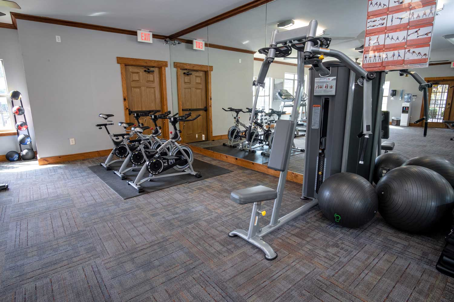 On-Demand Fitness Center at The Oxford at Estonia Apartments in San Antonio, TX