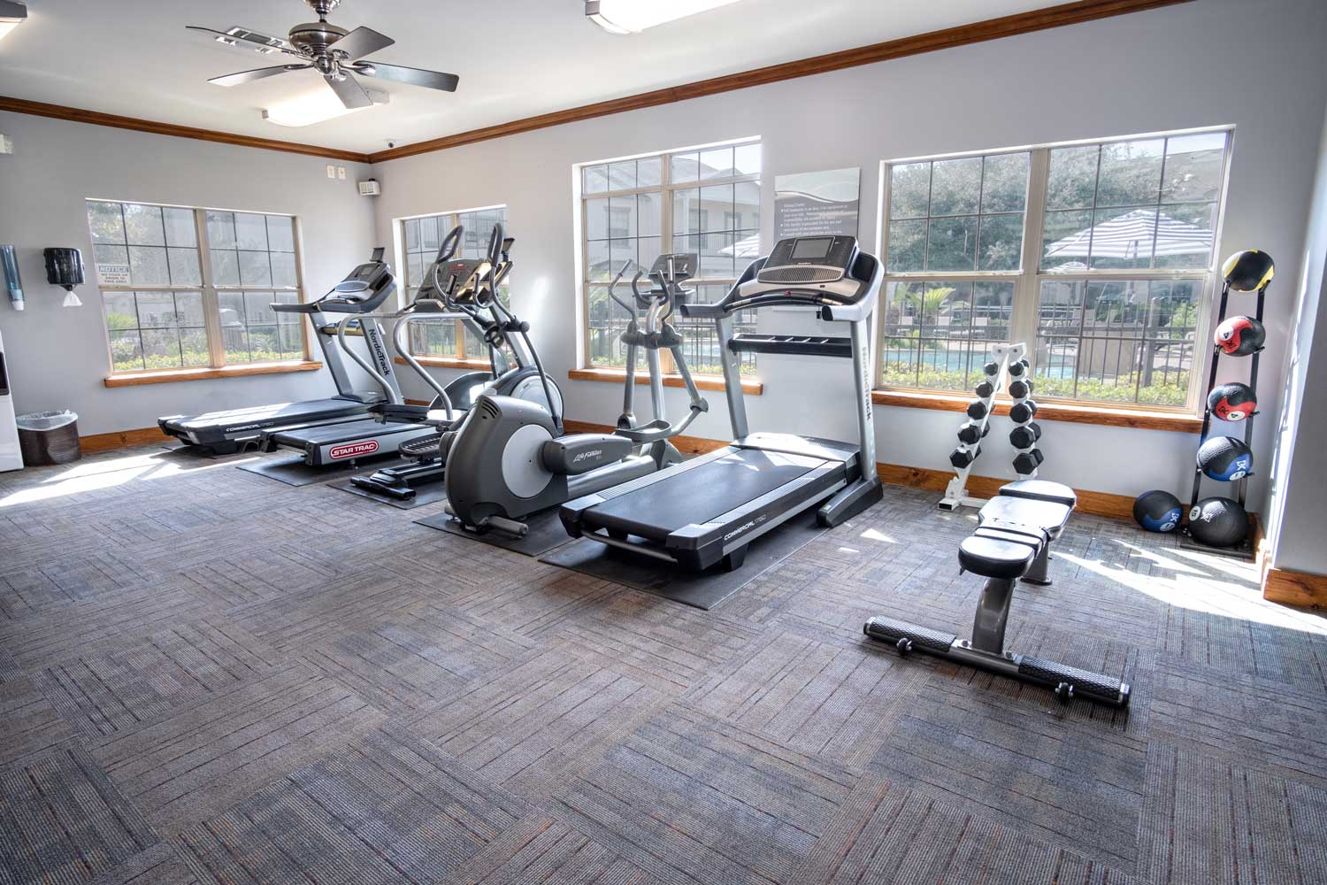 Gym at The Oxford at Estonia Apartments in San Antonio, TX