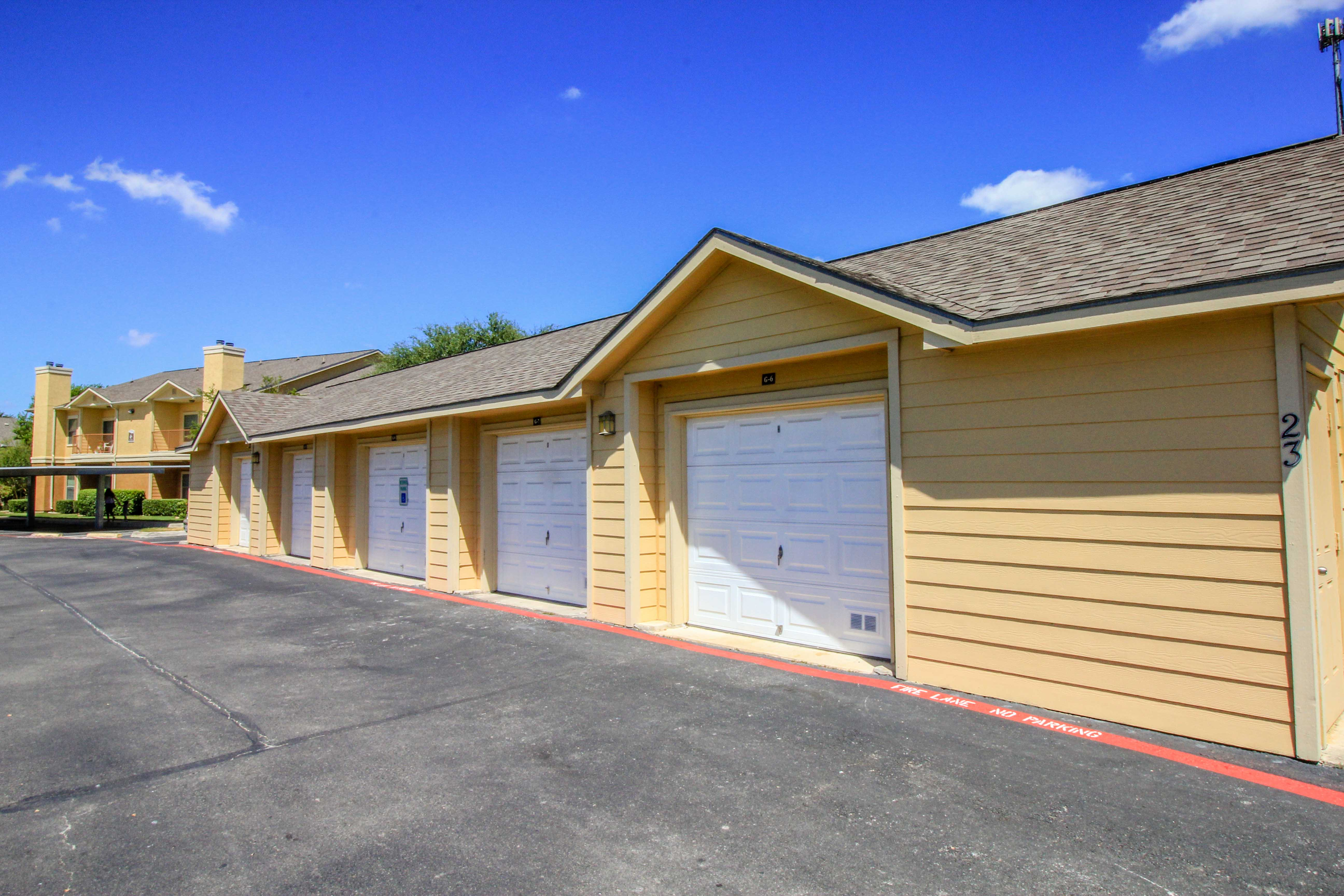Garages, Storages and Covered Parking at The Oxford at Estonia Apartments in San Antonio, TX