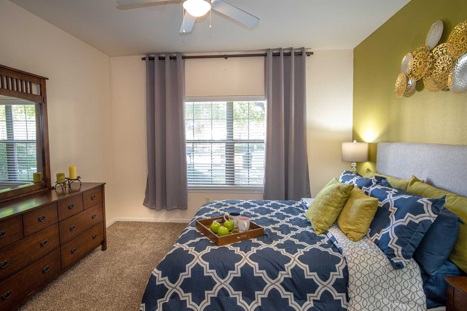 Spacious Bedroom at The Oxford at Estonia Apartments in San Antonio, TX