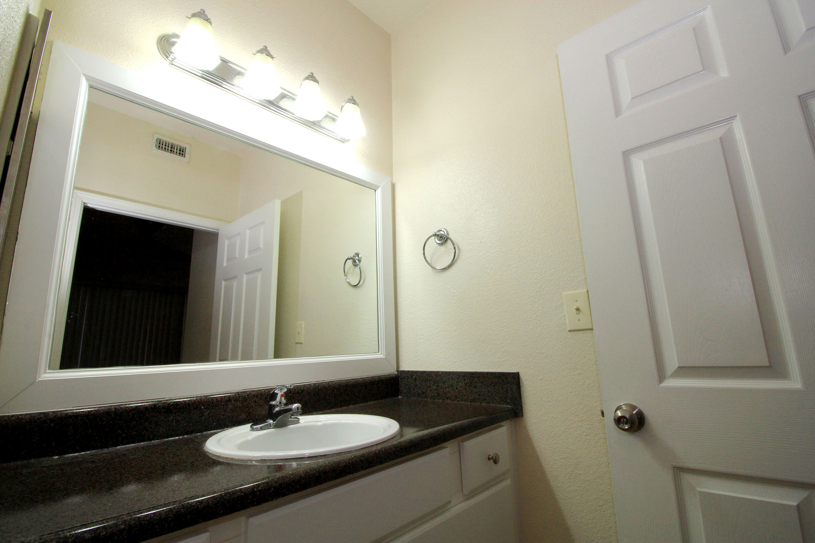 Bathroom Luxury Upgrade  at The Oxford at Estonia Apartments in San Antonio, TX