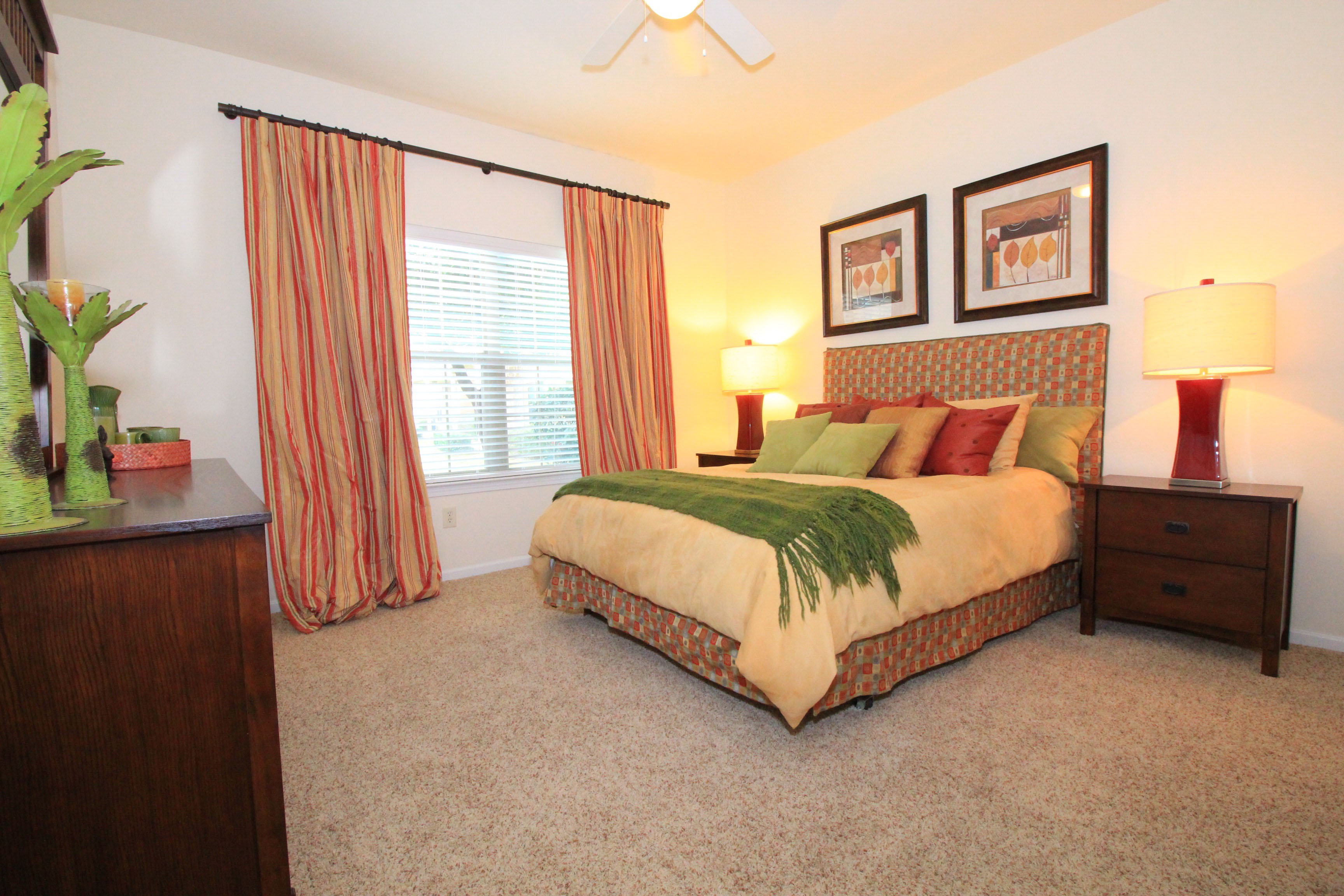 Master Bedroom at The Oxford at Estonia Apartments in San Antonio, TX