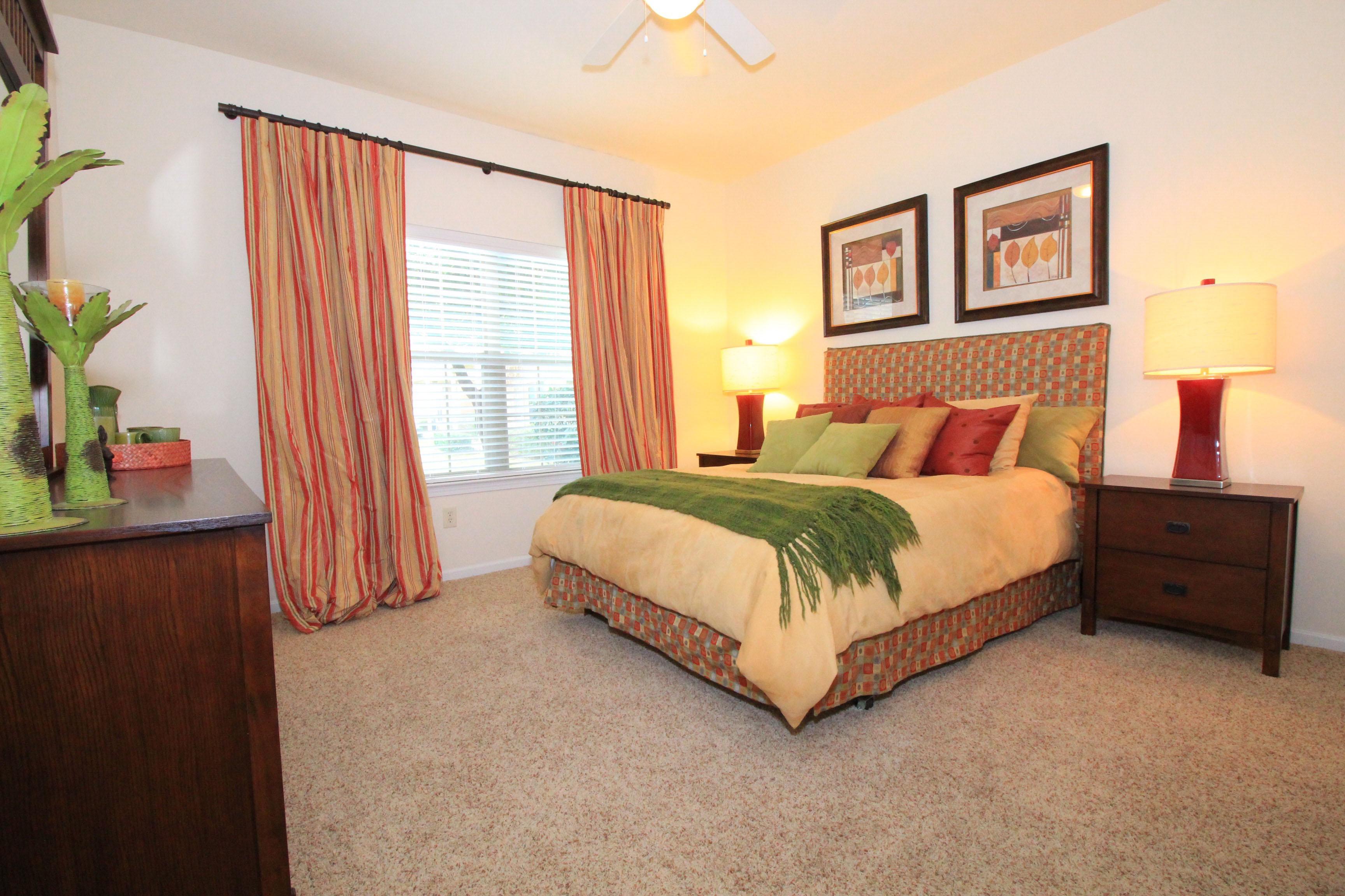 Master Bedroom at The Oxford at Estonia Apartments in San Antonio, TX