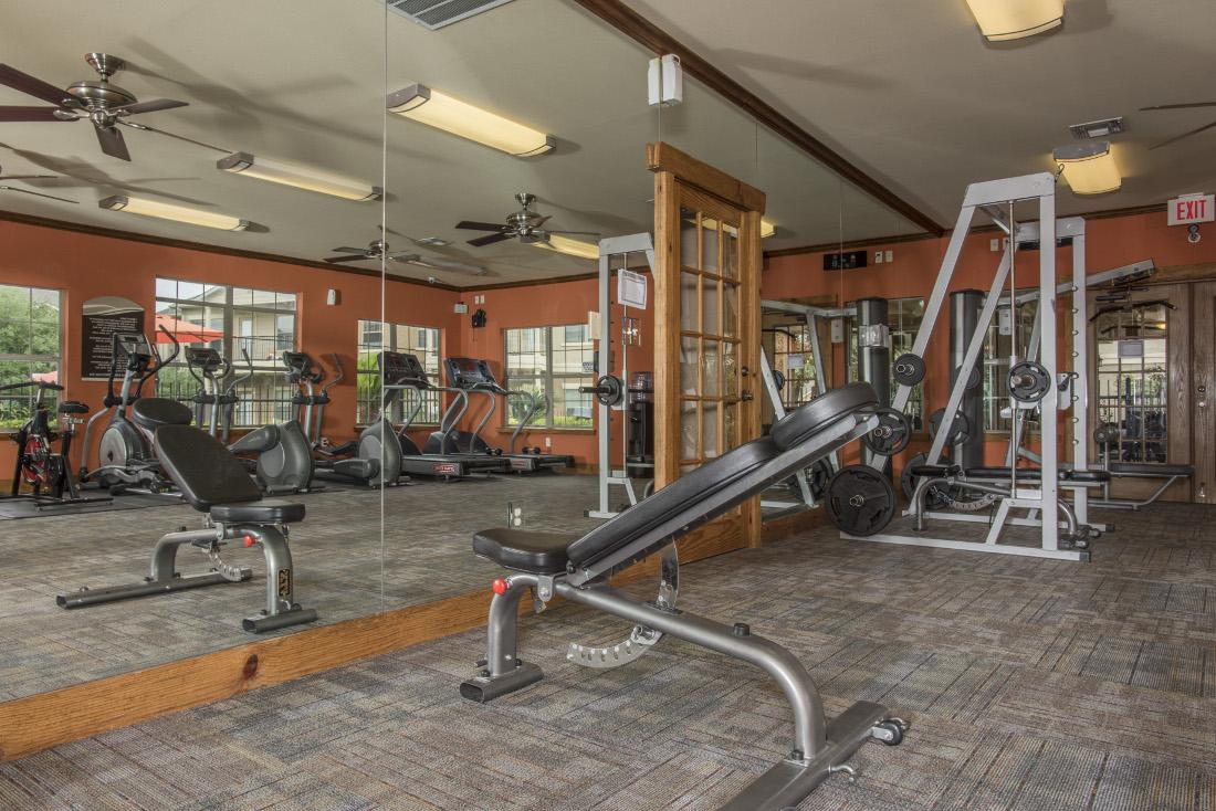 Fitness Center at the Oxford at Estonia Apartments in San Antonio, TX