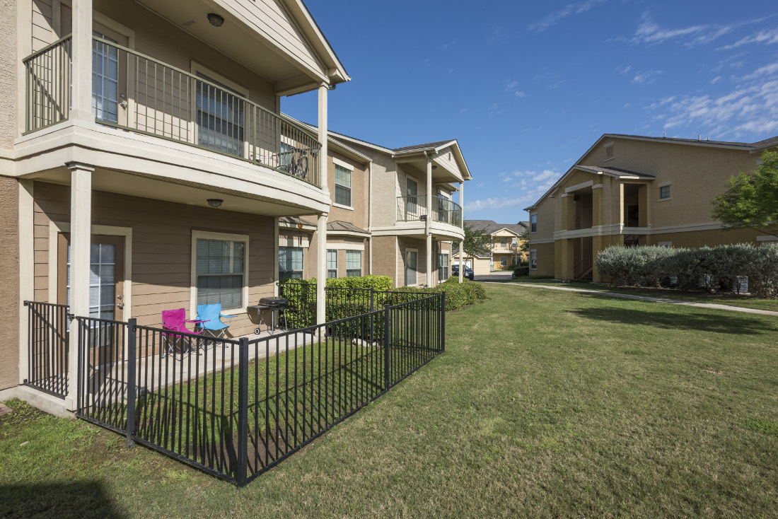 Secure Patios at the Oxford at Estonia Apartments in San Antonio, TX