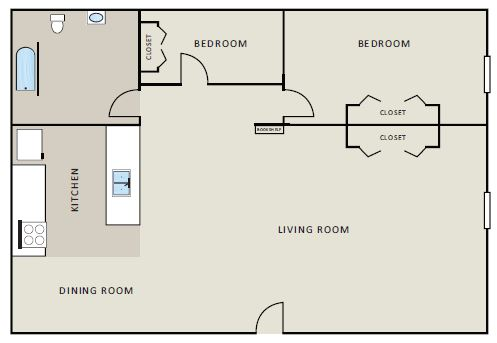 Evergreen Apartment Homes - Floorplan - Spruce