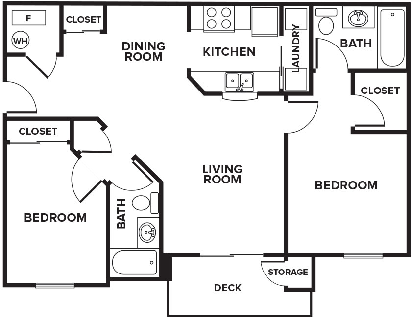 Fairfax Apartments - FloorPlan - 2A