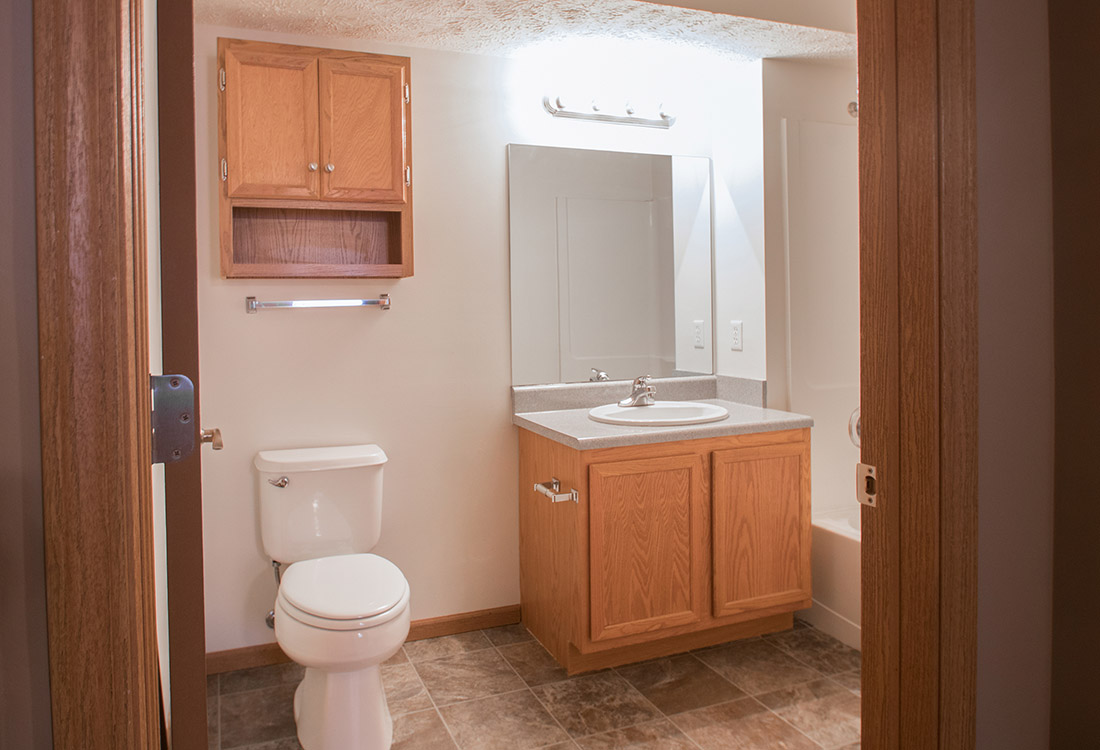 Bathroom Vanity Lighting at Fairfax Apartments in Omaha, Nebraska