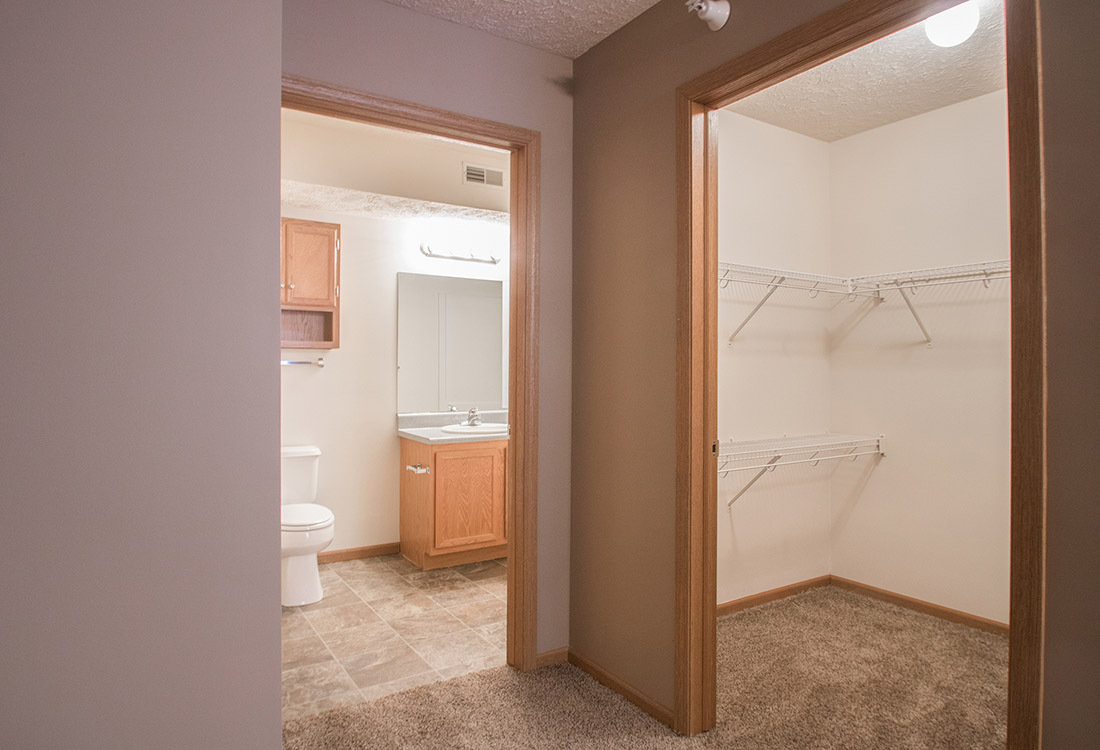 Spacious Walk-In Closets at Fairfax Apartments in Omaha, Nebraska