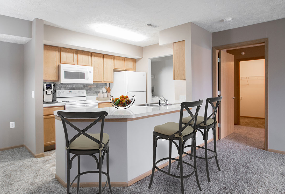 Kitchen at Fairfax Apartments in Omaha, Nebraska