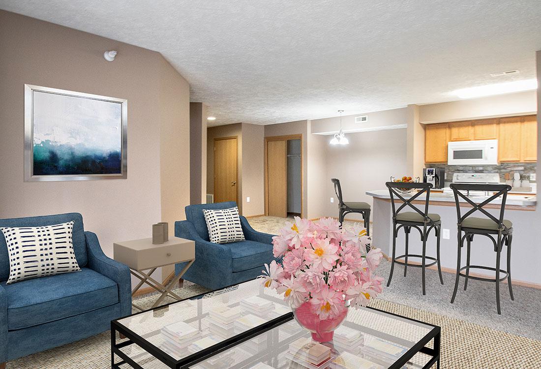 Spacious Apartments at Fairfax Apartments in Omaha, Nebraska