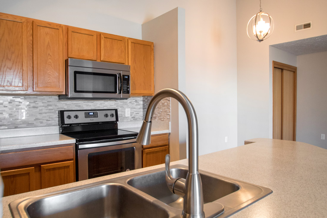Updated Backsplashes at Fairfax Apartments in Omaha, Nebraska