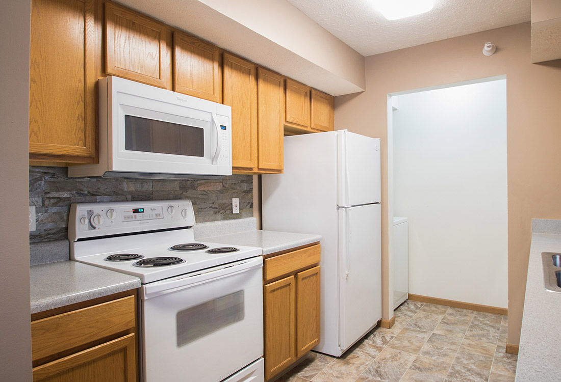 Modern Kitchen at Fairfax Apartments in Omaha, Nebraska