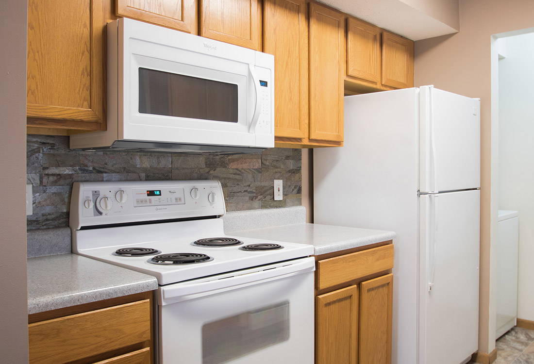Fully-Equipped Kitchen at Fairfax Apartments in Omaha, Nebraska