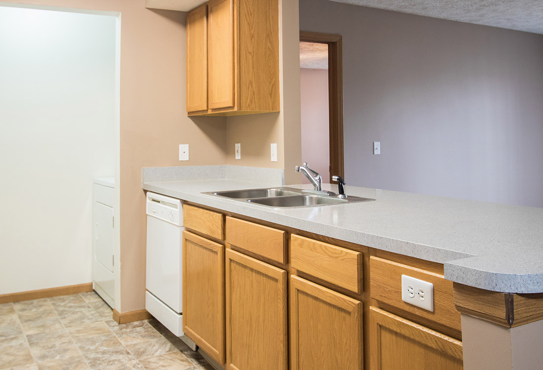 Extended Counter Space at Fairfax Apartments in Omaha, Nebraska